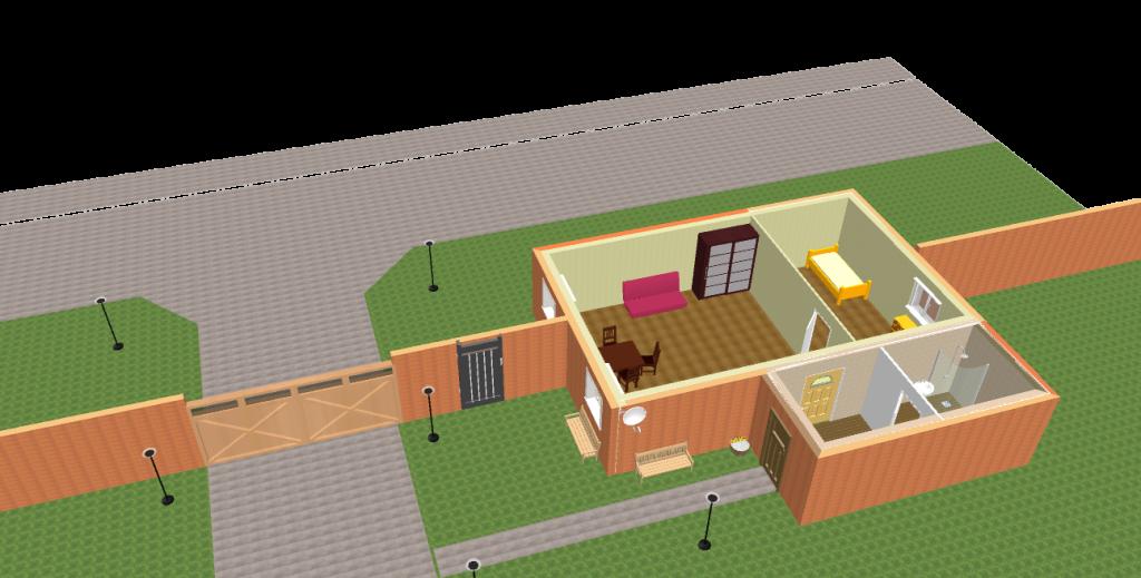 пост охраны коттеджного поселка
